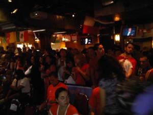 Aficionados españoles en Birmingham