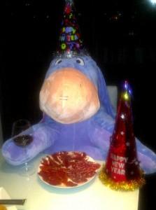 Alfredo en la cena de Nochevieja 2010